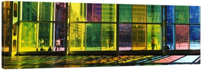 Multi-colored Glass Facade, Palais des congres de Montreal, Villa-Marie, Montreal, Quebec, Canada Canvas Art Print