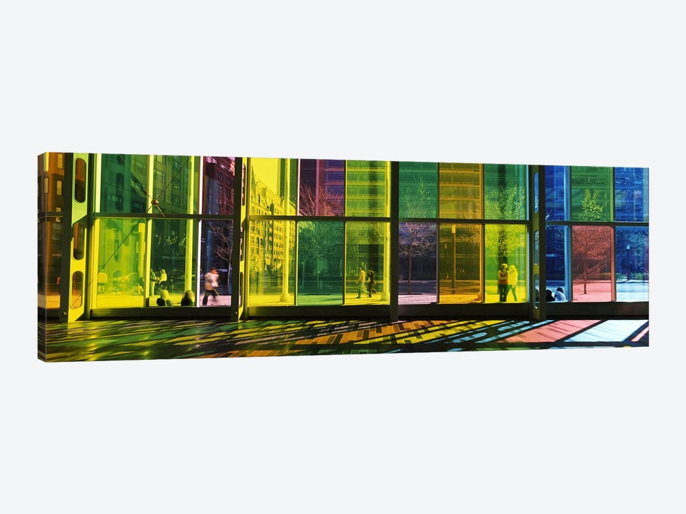 Multi-colored Glass Facade, Palais des congres de Montreal, Villa-Marie, Montreal, Quebec, Canada by Panoramic Images 1-piece Canvas Art Print
