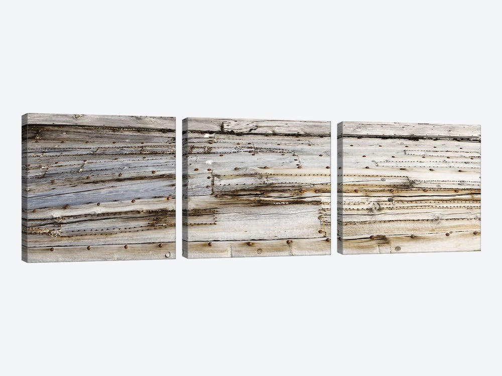 Close-Up Of An Old Whaling Boat Hull, Spitsbergen, Svalbard, Norway by Panoramic Images 3-piece Canvas Artwork