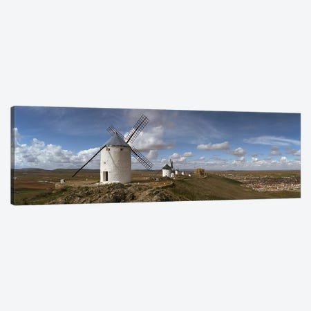 Traditional windmill on a hill, Consuegra, Toledo, Castilla La Mancha, Toledo province, Spain Canvas Print #PIM7323} by Panoramic Images Canvas Wall Art