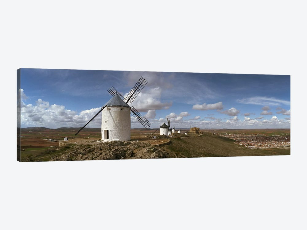 Traditional windmill on a hill, Consuegra, Toledo, Castilla La Mancha, Toledo province, Spain by Panoramic Images 1-piece Art Print