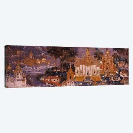 Ramayana murals in a palace, Royal Palace, Phnom Penh, Cambodia Canvas Print #PIM7325} by Panoramic Images Canvas Art Print