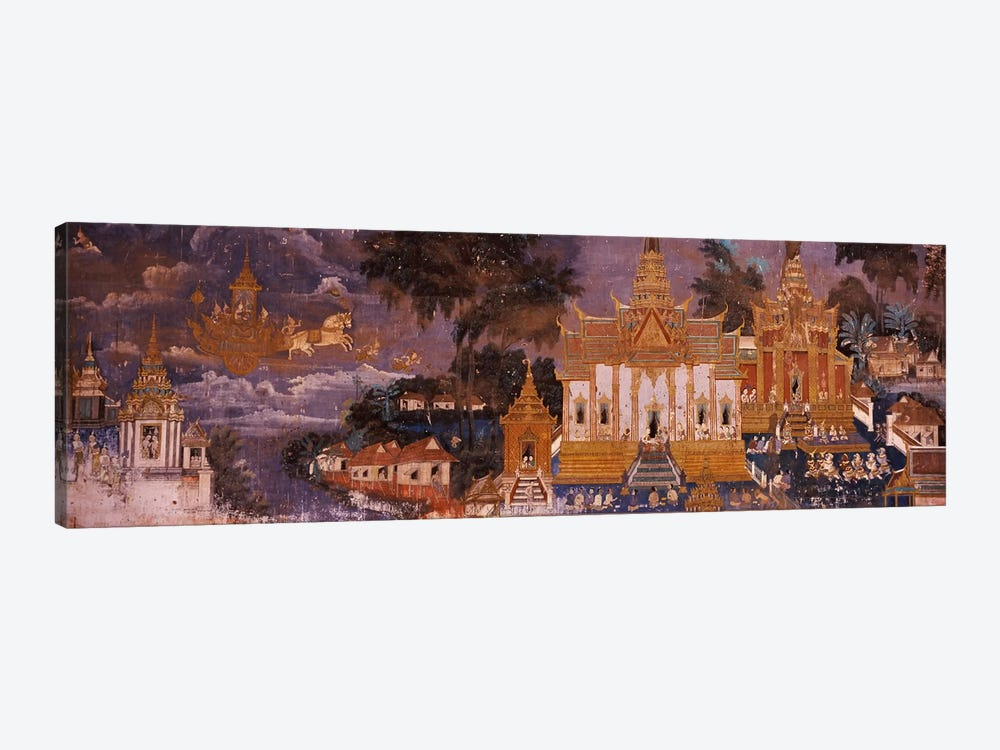 Ramayana murals in a palace, Royal Palace, Phnom Penh, Cambodia by Panoramic Images 1-piece Art Print