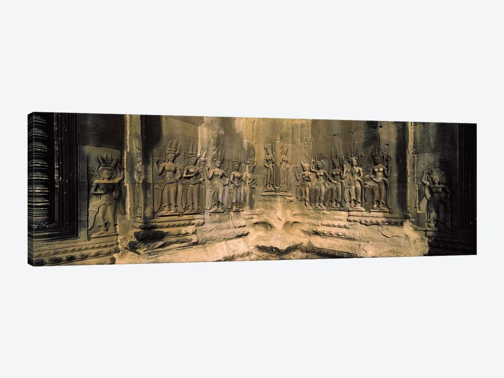 Bas relief in a temple, Angkor Wat, Angkor, Cambodia by Panoramic Images 1-piece Canvas Print