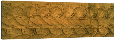 Bas relief in a temple, Angkor Wat, Angkor, Cambodia #2 Canvas Print #PIM7328