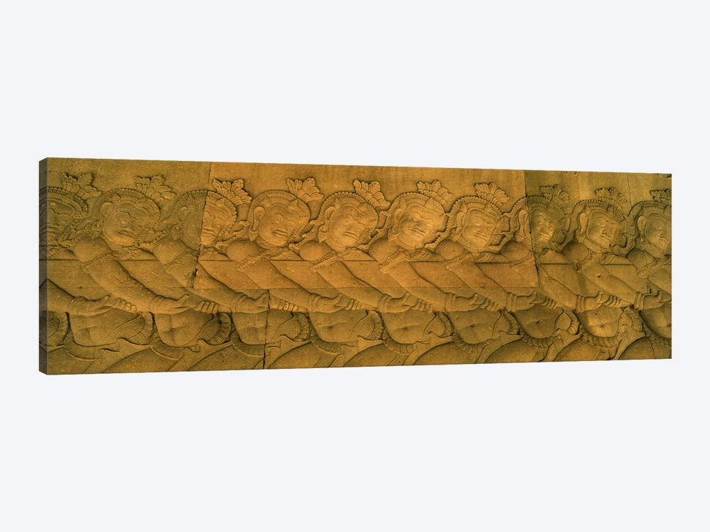 Bas relief in a temple, Angkor Wat, Angkor, Cambodia #2 by Panoramic Images 1-piece Canvas Wall Art