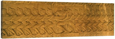 Bas relief in a temple, Angkor Wat, Angkor, Cambodia #3 Canvas Art Print