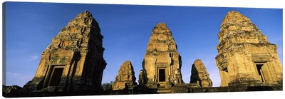 Low angle view of a temple, Pre Rup, Angkor, Cambodia Canvas Art Print