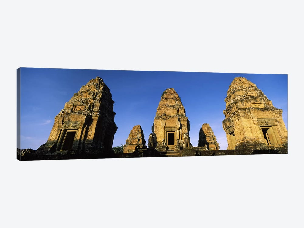 Low angle view of a temple, Pre Rup, Angkor, Cambodia 1-piece Canvas Wall Art