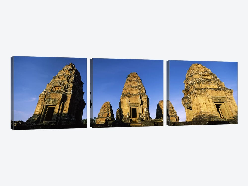 Low angle view of a temple, Pre Rup, Angkor, Cambodia 3-piece Canvas Artwork