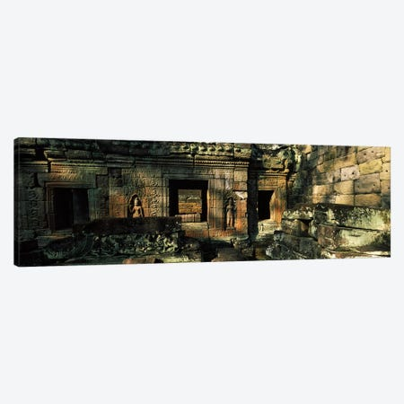 Ruins of a temple, Preah Khan, Angkor, Cambodia Canvas Print #PIM7333} by Panoramic Images Art Print