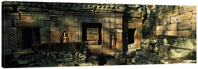 Ruins of a temple, Preah Khan, Angkor, Cambodia Canvas Art Print
