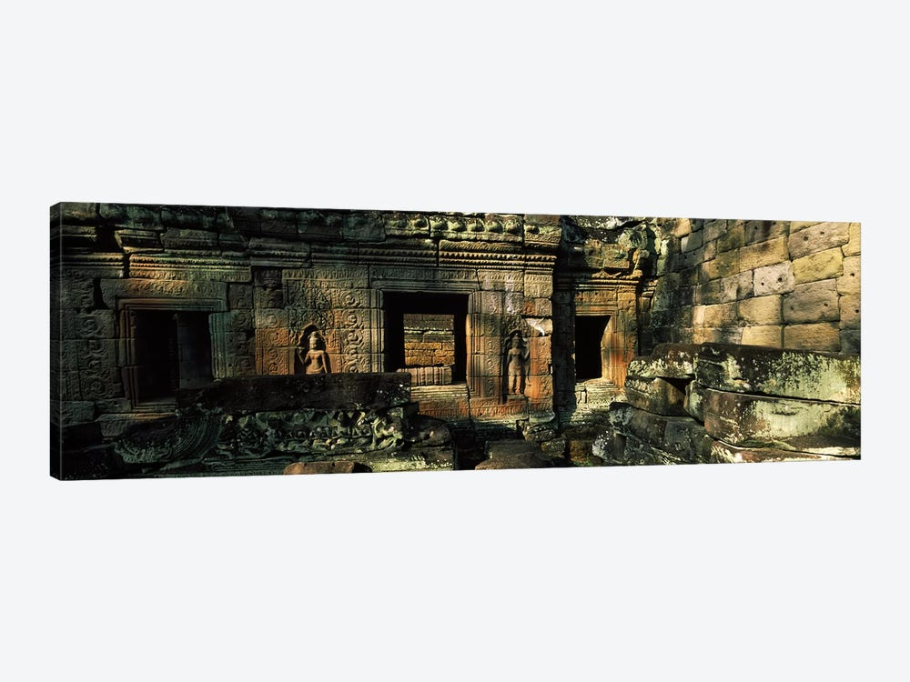 Ruins of a temple, Preah Khan, Angkor, Cambodia by Panoramic Images 1-piece Canvas Art