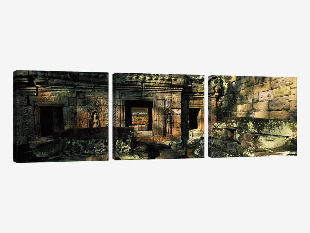 Ruins of a temple, Preah Khan, Angkor, Cambodia by Panoramic Images 3-piece Canvas Wall Art