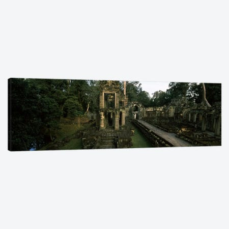 Ruins of a temple, Preah Khan, Angkor, Cambodia #2 Canvas Print #PIM7334} by Panoramic Images Canvas Art
