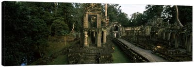 Ruins of a temple, Preah Khan, Angkor, Cambodia #2 Canvas Art Print