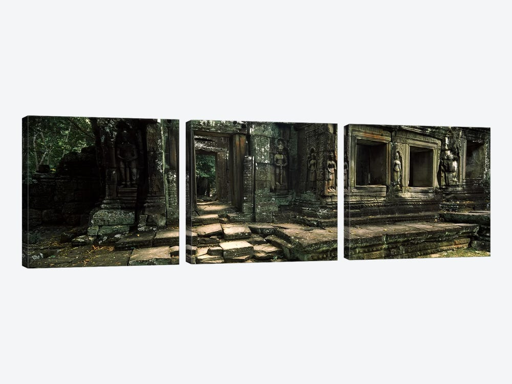 Ruins of a temple, Banteay Kdei, Angkor, Cambodia by Panoramic Images 3-piece Canvas Art