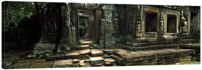 Ruins of a temple, Banteay Kdei, Angkor, Cambodia Canvas Art Print