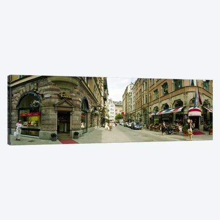 Buildings in a city, Biblioteksgatan and Master Samuelsgatan streets, Stockholm, Sweden Canvas Print #PIM7349} by Panoramic Images Canvas Artwork