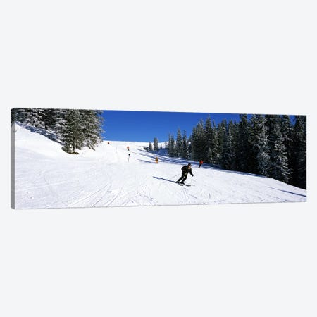 Tourists skiing, Kitzbuhel, Westendorf, Tirol, Austria Canvas Print #PIM7355} by Panoramic Images Canvas Artwork