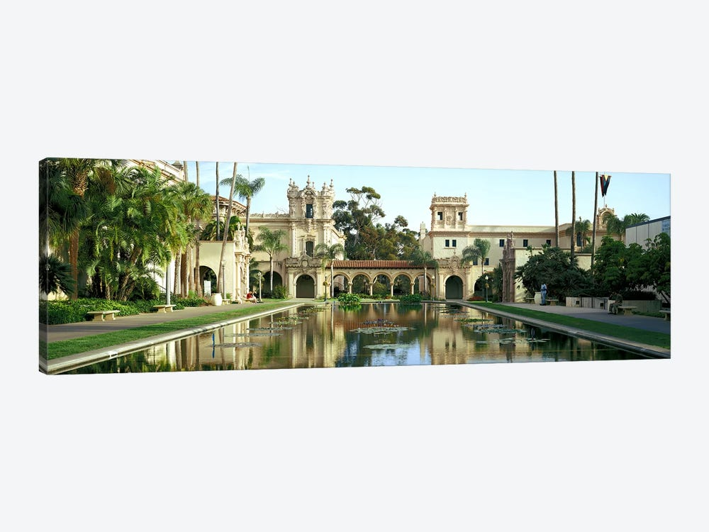 Reflecting pool in front of a building, Balboa Park, San Diego, California, USA by Panoramic Images 1-piece Canvas Artwork
