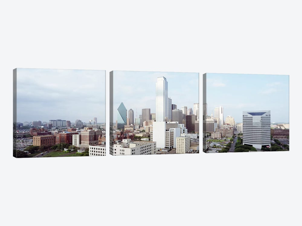Buildings in a city, Dallas, Texas, USA #4 3-piece Canvas Art
