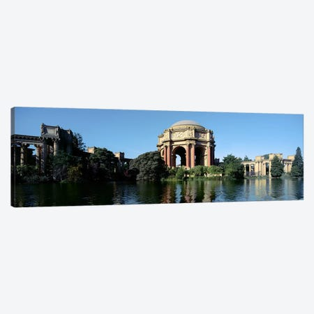 Reflection of an art museum in water, Palace Of Fine Arts, Marina District, San Francisco, California, USA Canvas Print #PIM7368} by Panoramic Images Canvas Wall Art