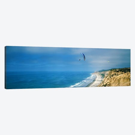 Paragliders over the coast, La Jolla, San Diego, California, USA Canvas Print #PIM7369} by Panoramic Images Canvas Artwork