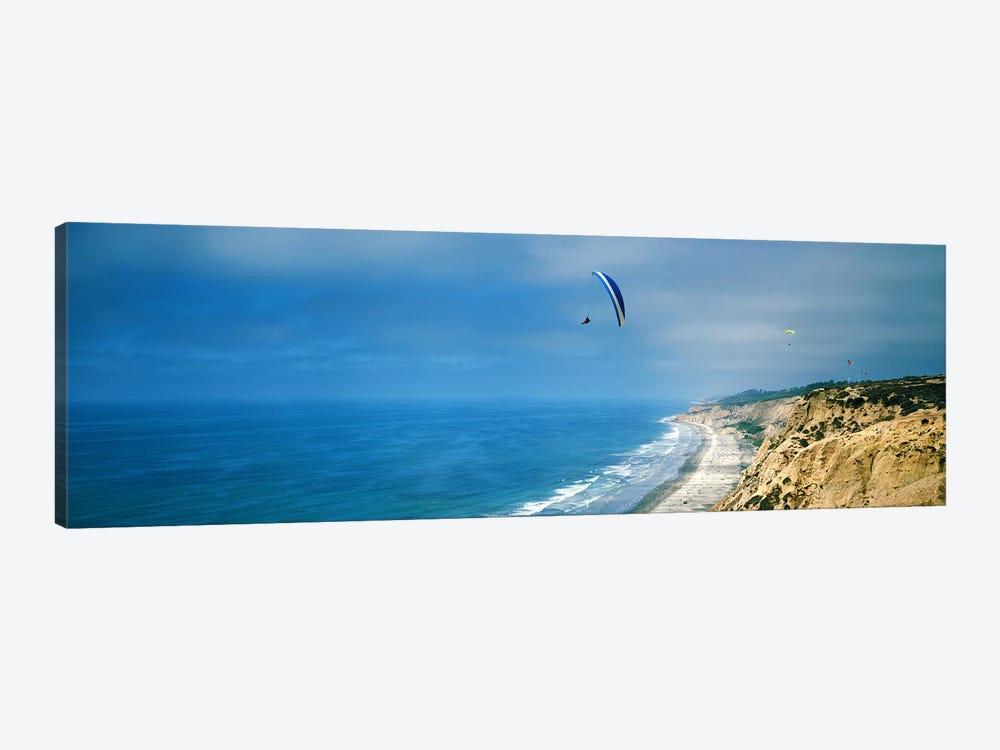 Paragliders over the coast, La Jolla, San Diego, California, USA by Panoramic Images 1-piece Canvas Art Print