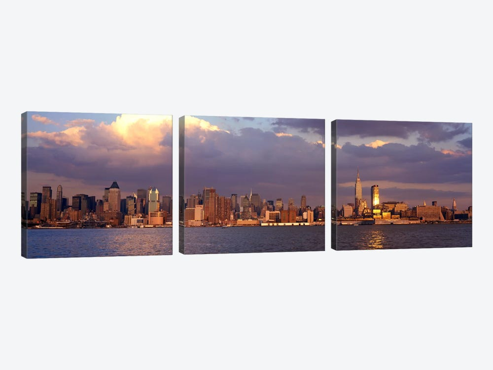 New York City Hudson River NY by Panoramic Images 3-piece Canvas Artwork