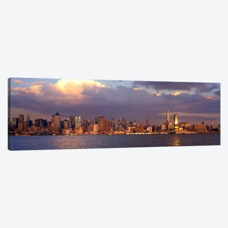 New York City Hudson River NY Canvas Print #PIM736} by Panoramic Images Canvas Print