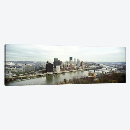 High angle view of a city, Pittsburgh, Allegheny County, Pennsylvania, USA Canvas Print #PIM7370} by Panoramic Images Canvas Art Print