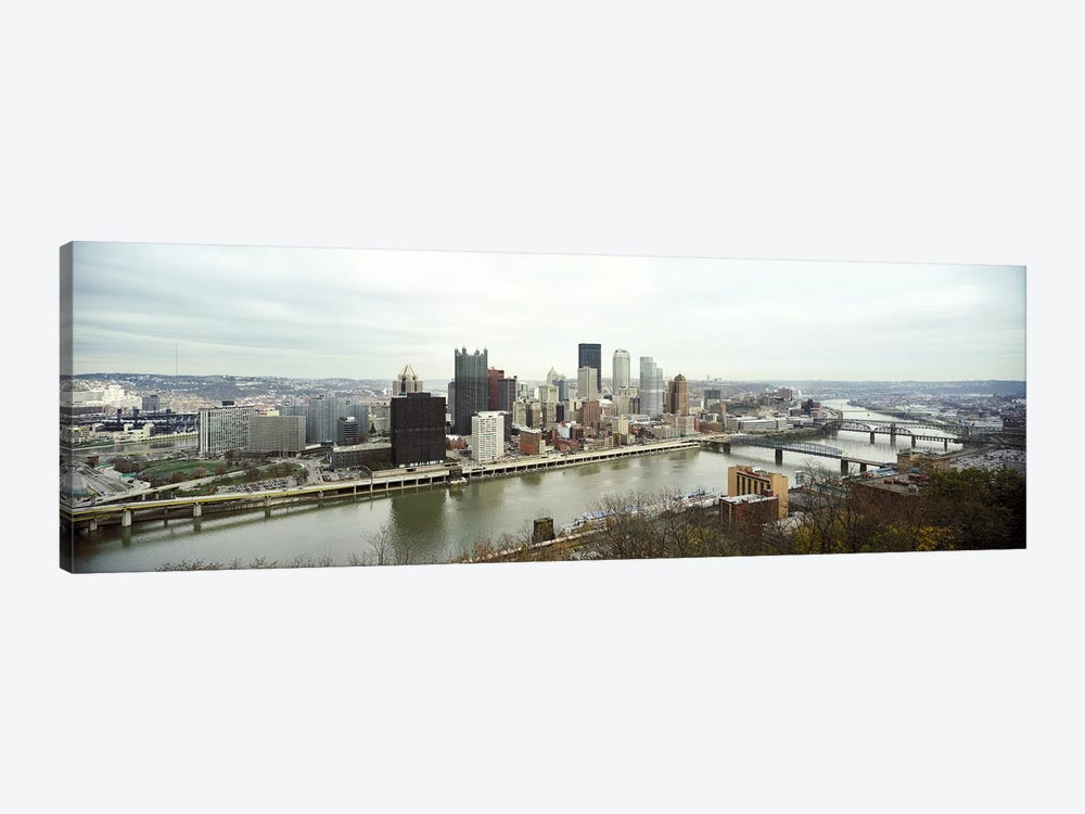 High angle view of a city, Pittsburgh, Allegheny County, Pennsylvania, USA by Panoramic Images 1-piece Art Print
