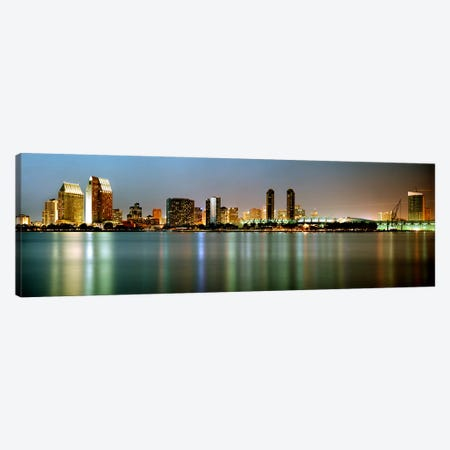 City skyline at night, San Diego, California, USA Canvas Print #PIM7372} by Panoramic Images Canvas Art Print