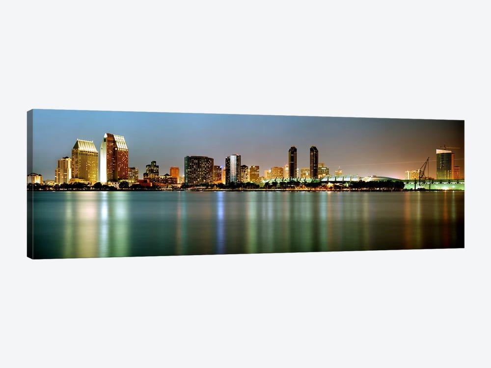 City skyline at night, San Diego, California, USA by Panoramic Images 1-piece Canvas Art Print