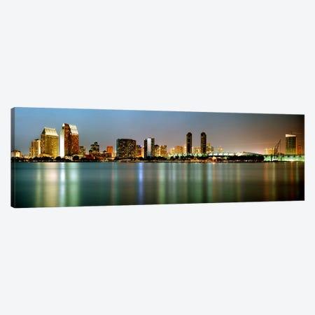 City skyline at night, San Diego, California, USA Canvas Print #PIM7372} by Panoramic Images Canvas Art Print