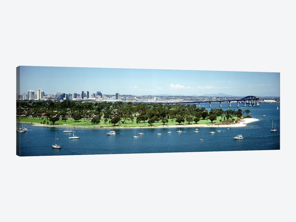 Bridge across a bayCoronado Bridge, San Diego, California, USA by Panoramic Images 1-piece Canvas Art
