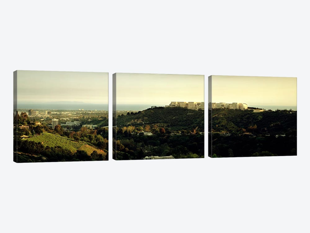 High angle view of a citySanta Monica, Los Angeles County, California, USA by Panoramic Images 3-piece Art Print