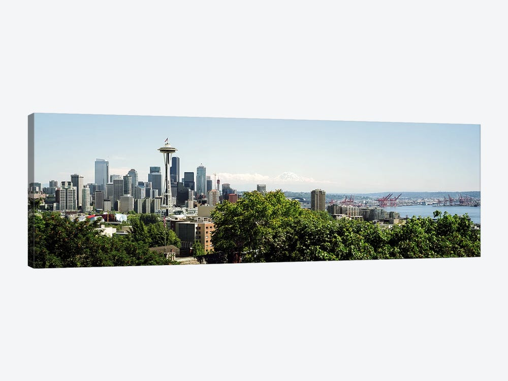 Skyscrapers in a citySpace Needle, Seattle, Washington State, USA by Panoramic Images 1-piece Canvas Wall Art