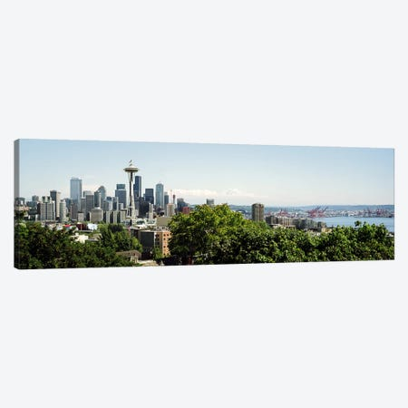 Skyscrapers in a citySpace Needle, Seattle, Washington State, USA Canvas Print #PIM7375} by Panoramic Images Canvas Wall Art