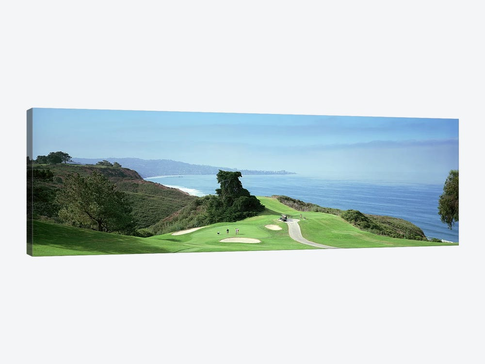 Golf course at the coastTorrey Pines Golf Course, San Diego, California, USA by Panoramic Images 1-piece Canvas Wall Art