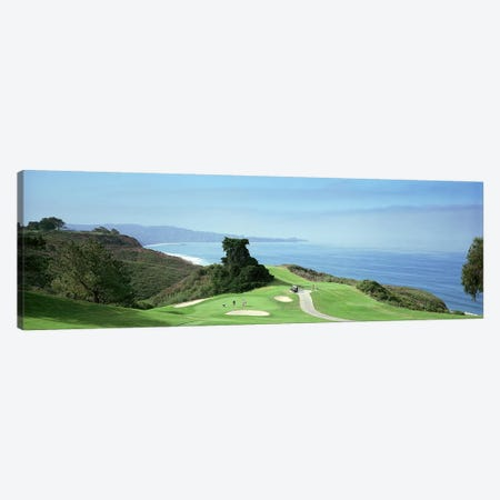 Golf course at the coastTorrey Pines Golf Course, San Diego, California, USA Canvas Print #PIM7377} by Panoramic Images Canvas Artwork