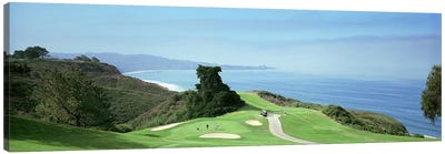 Golf course at the coastTorrey Pines Golf Course, San Diego, California, USA Canvas Art Print