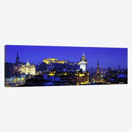 Illuminated Cityscape, Old Town, Edinburgh, Scotland, United Kingdom Canvas Print #PIM7378} by Panoramic Images Canvas Art Print
