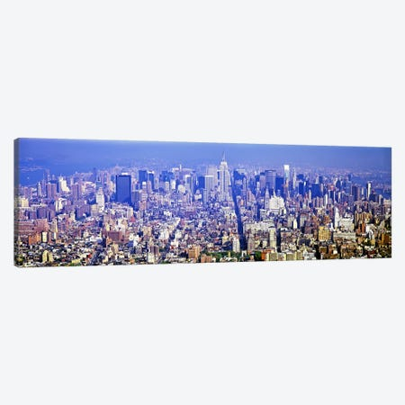 Aerial view of a cityscapeManhattan, New York City, New York State, USA Canvas Print #PIM7379} by Panoramic Images Canvas Art Print