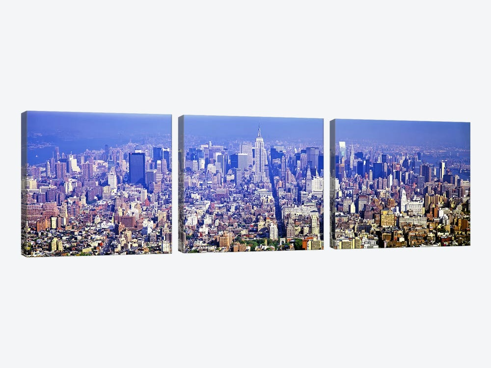 Aerial view of a cityscapeManhattan, New York City, New York State, USA by Panoramic Images 3-piece Canvas Art