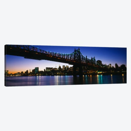 USA, New York City, 59th Street Bridge Canvas Print #PIM737} by Panoramic Images Art Print