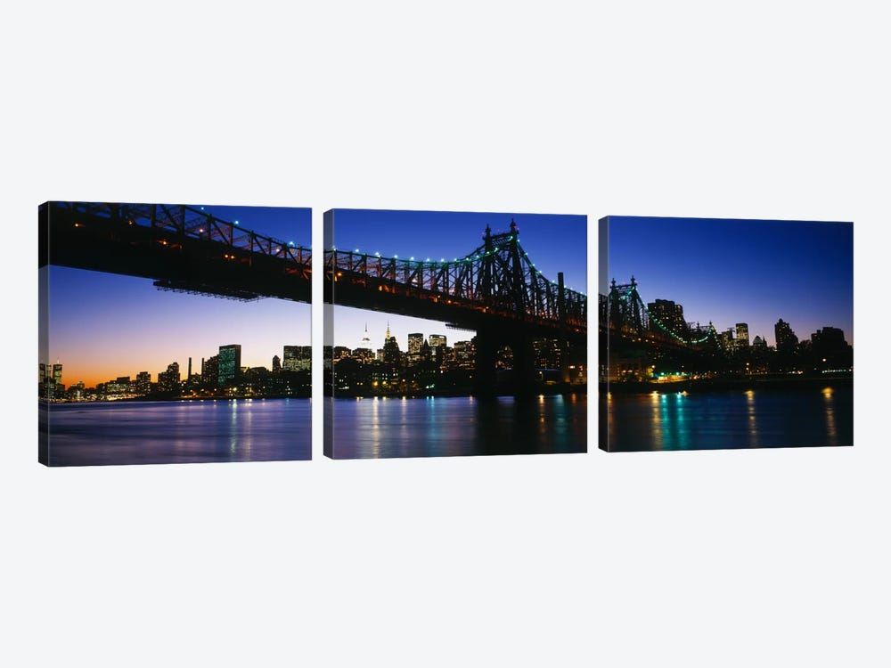 USA, New York City, 59th Street Bridge by Panoramic Images 3-piece Canvas Art Print