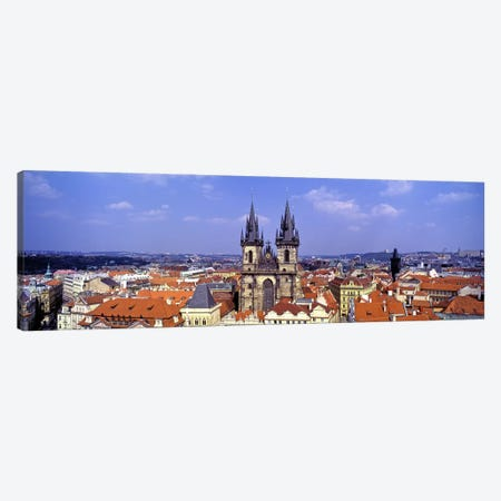 Church in a city, Tyn Church, Prague Old Town Square, Prague, Czech Republic Canvas Print #PIM7380} by Panoramic Images Canvas Wall Art
