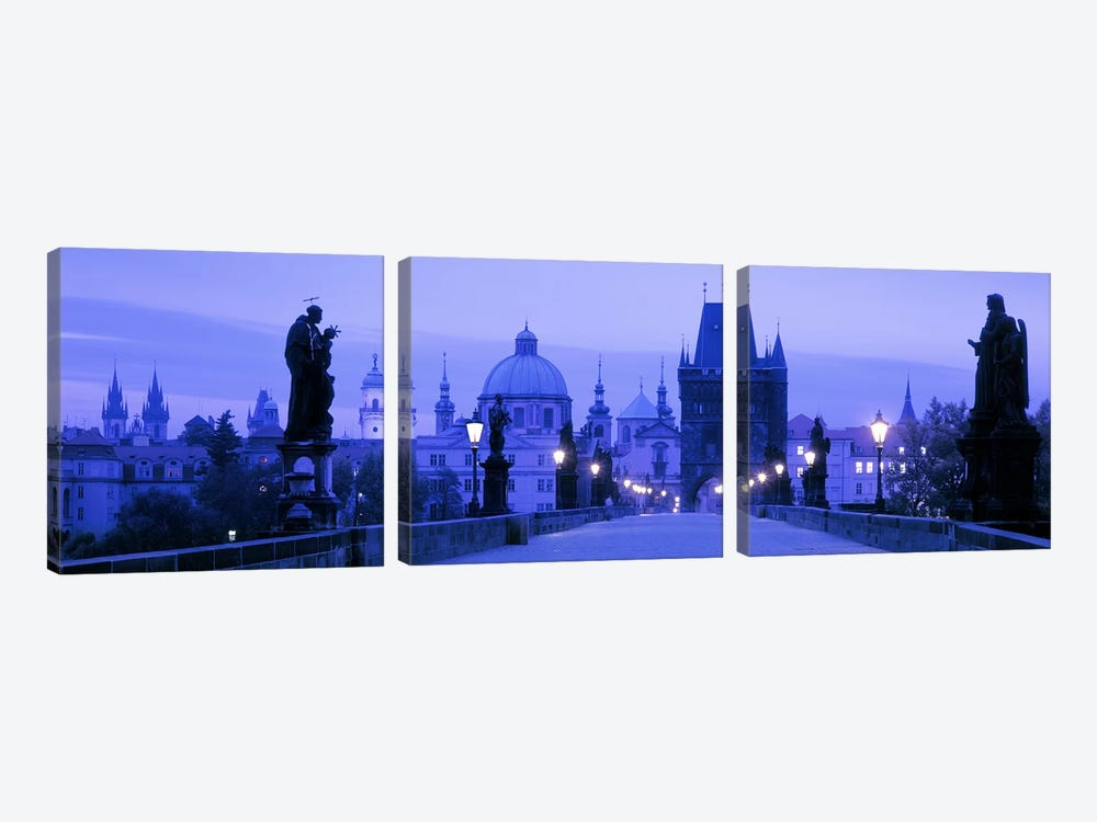Historic Cityscape, Old Town, Prague, Czech Republic by Panoramic Images 3-piece Canvas Art Print
